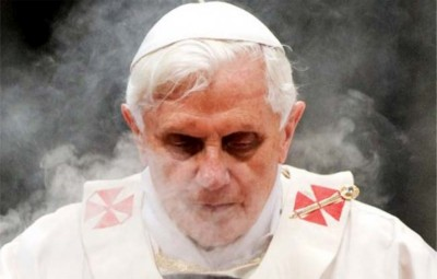 Joseph Ratzinger says mass.