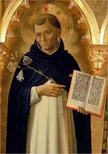 St. Dominic, founder of Fr. Brodie's preaching order of Dominicans,  by Fra Angelico