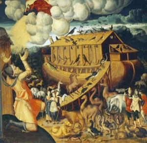 Noah's Ark. Italian mural painting, mid 16th century.
