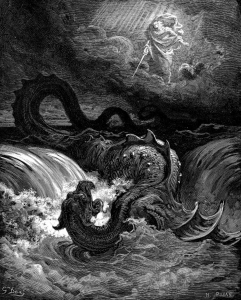 Destruction of Leviathan by Gustave Doré