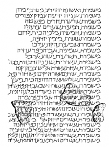 The Caesarea inscription as reconstructed by Avi-Yonah
