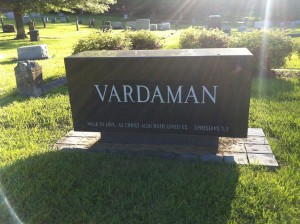 The Vardaman family cemetery plot in Starkville, Mississippi.