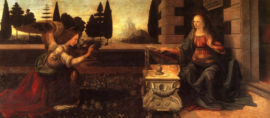 The Annunciation by Da Vinci