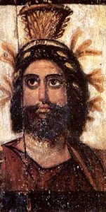 Serapis, a syncretistic god created by the (Greek) Pharaoh Ptolemy to unite Greek and Egyptian religions.
