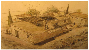 "Artist's rendering of the ""Jesus era house""(from the Chemin Neuf ""Dossier de Presse"")"