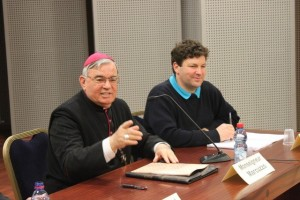 Mgr. Marcuzzo (Bishop of Nazareth)and O. Bonnassies