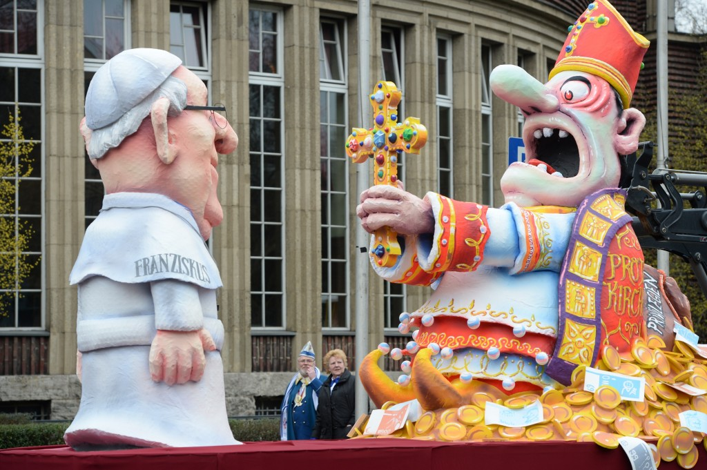 The traditional Rose Monday parade (March 3, 2014) in Düsseldorf, Germany. (Photo: PATRIK STOLLARZ/AFP/Getty Images)