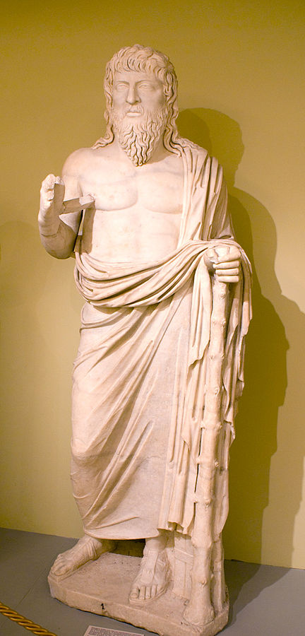 A statue from Crete supposed to be that of Apollonius of Tyana. (Wikimedia commons.)