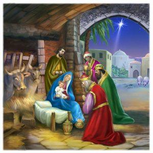The Nativity by P. Hoenderkamp.