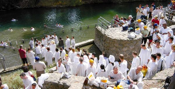 The country of Jordan also want some of the Christian tourism. Above is one claim of where John baptized Jesus (Bethany beyond the Jordan, Jn 1:28).