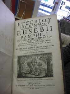 "Eusebius'""Ecclesiastical History""  and""The Life of Constantine""(18th Century edition)."