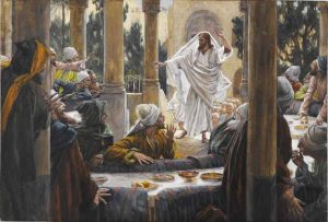 "James Tissot, detail of ""Curses against the Pharisees"" (1886-96)."