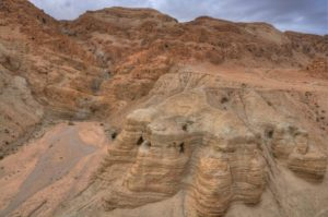 The famous caves of Qumran.